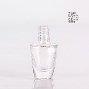 10ml nail polish glass bottle with brush lid