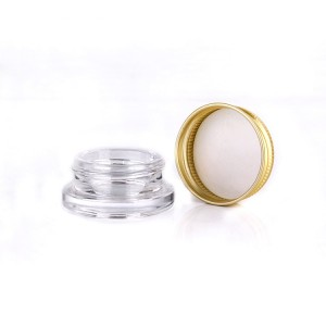 7ml eye cream glass jar for cosmetic with screw aluminum lid