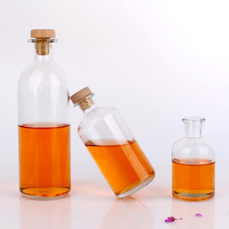 125ml 250ml 500ml round shape glass Reagent bottle with cork