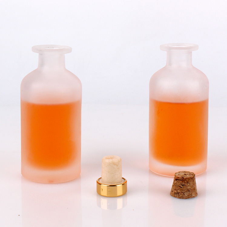 Wholesale100ml empty frosted reagent glass bottle with cork