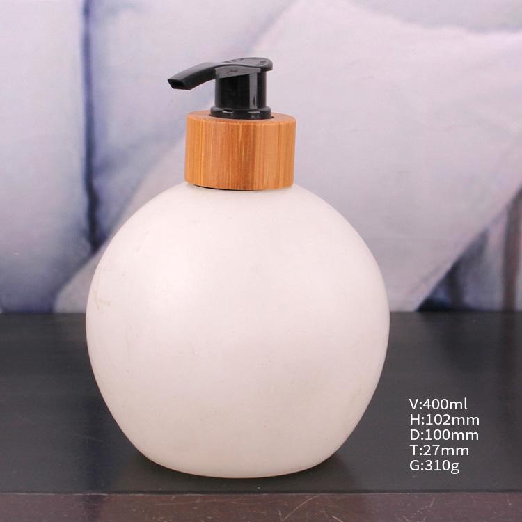 white round Liquid Soap Pump glass Bottle