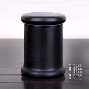 Cheapest PriceHexagon Glass Jar - hot selling matte black Classic glass candlestick – Yanjia