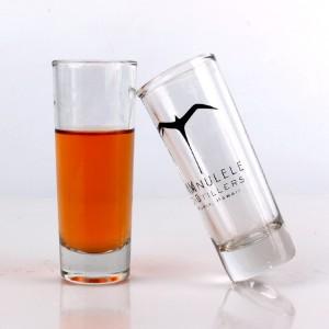 Wholesale transparent 2oz water juice glass cup