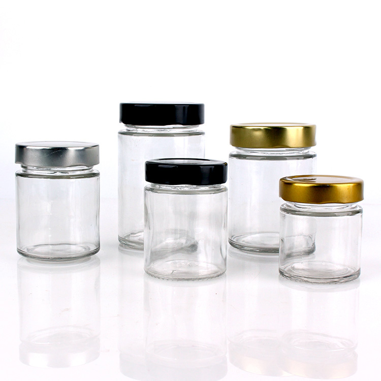 /wholesale-wide-mouth-round-clear-glass-jar-for-storage-with-mental-lid.html