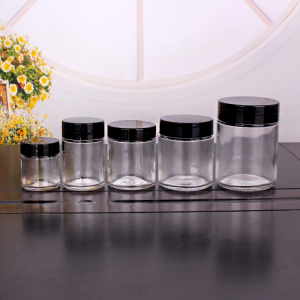 Factory Promotional Footed Glass Jar With Lid -