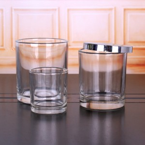 60ml 2oz cylinder clear glass candle jar container with lid