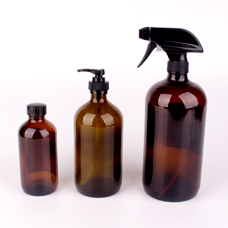 500ml 1000ml glass hand sanitizer shampoo bottle with painting