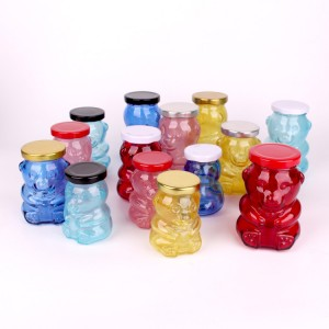 PriceList for Frosted Beverage Glass Bottle - lolli and pops bear glass jar glass candysweetlollipop bear jar 180ml 280ml – Yanjia