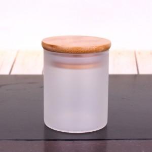 50ml 100ml 150ml borosilicate Glass Jar With Bamboo Lid