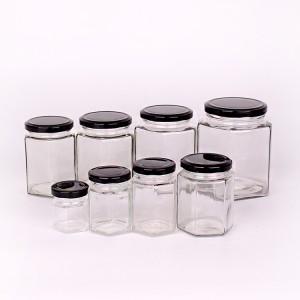 Manufactur standard Cheap Glass Jars - hexagon honey jar cheap glass jars wholesale with factory price – Yanjia