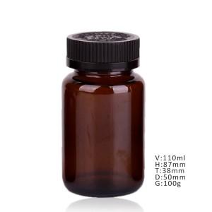 China OEM Glass Jar Honey - 4oz amber glass essential oil/hemp oil bottle CR lid – Yanjia