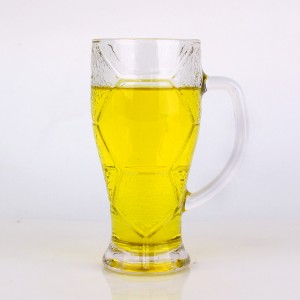 620ml 420ml funny design football design glass cups for drinking beer