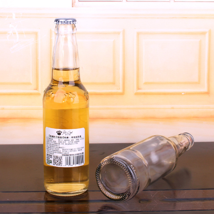 Factory price 330ml beer beverage glass bottle with crown cap