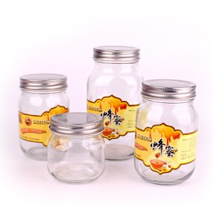 Fixed Competitive Price White Glass Candle Jar -