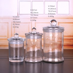 factory low price Novelty Glass Beer Boot Cups - 11oz empty tealight candle glass scented wax jar glass lid sealed – Yanjia
