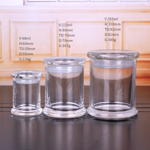China Manufacturer for Candy Jar With Glass Lid -
