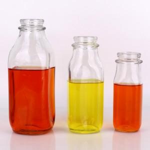 Wholesale empty 240ml 360ml 400ml 500ml 930ml 1liter glass bottles for milk