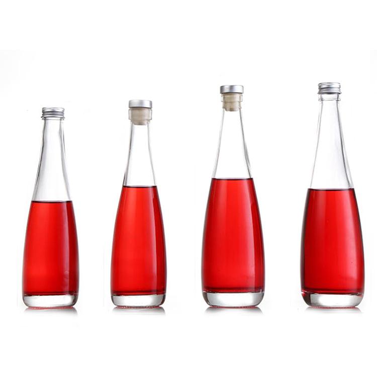 Hot sale fancy glass liquor vodka whisky wine bottle with stopper cap