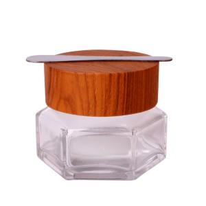 Factory wholesale 55000 Ml Borosilicate Laboratory Beaker Beaker Shot Glasses - High end crystal 50g face cream cosmetic glass jar with bamboo lid – Yanjia