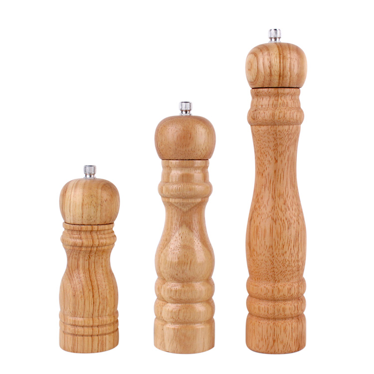 Hot sale 6'8'10′ inch wooden Manual spice salt and pepper grinder