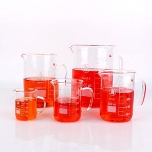 Factory best selling Olive Oil Bottle Glass - Wholesale and custom Lab Quality Borosilicate Glass 50 100 150ml Graduated Laboratory Beaker Shot Glasses – Yanjia