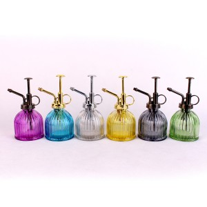 professional factory for Cosmetic Bottle - Custom colorful liquid soap glass bottle with Stainless Steel Pump – Yanjia