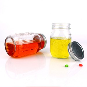 Free sample for Wholesale Glass Jars Lids - Engraved Empty Glass Mason Jar with Aluminum Cap – Yanjia