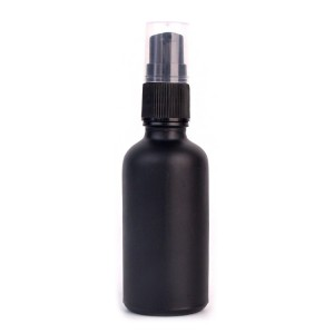50ml Set of 7 black glass spray bottles for essential oils with sprayers pump lid