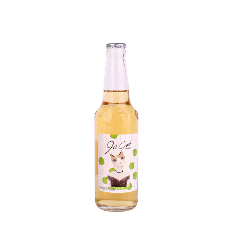 Wholesale Price Glass Bottles With Caps - Hot Sell amber and clear 330ml Empty Glass Beer Bottle for Sparkling Wine Alcohol Juice Beverage with metal Crown Cap – Yanjia