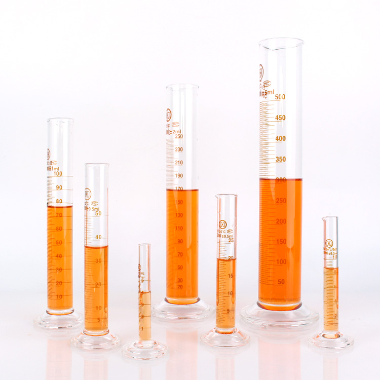 Hot sale Factory Crystal Beer Glass - Lab Glassware Borosilicate Glass Measuring Cylinder With Graduation, Spout And Round Base – Yanjia