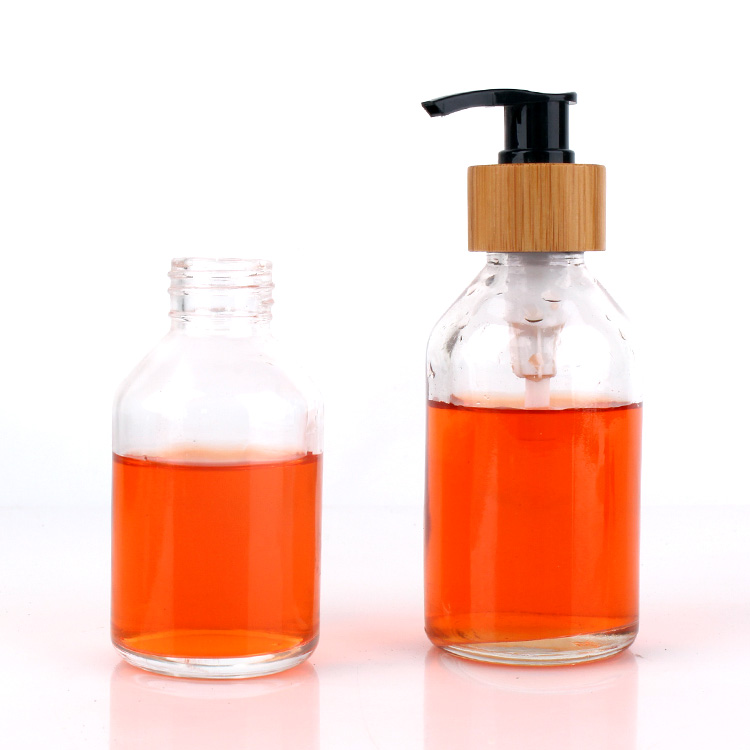 High quality Clear Liquid Soap Dispenser Glass bottle with Pump