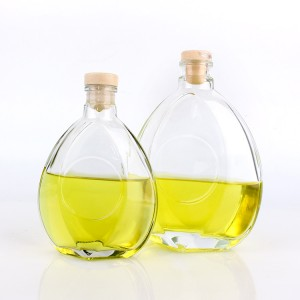 Chinese Professional Borosilicate Glass Beaker - 250ml 500ml fllat shape wine/liquor/red wine glass bottle with polymer stopper – Yanjia