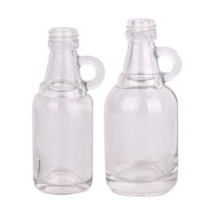 Mini empty 30ml 50ml beverage wine liquor Vodka glass bottle with screw lid