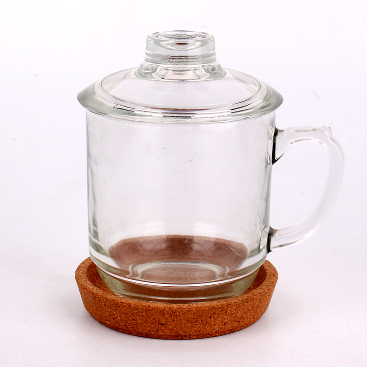 High Quality Glass Milk Bottles With Caps - hot sell 300ml glass coffee mug high quality glass tea cup for drinking with handle  – Yanjia