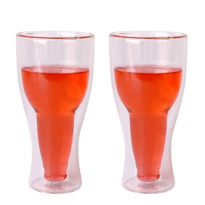 400ml double wall borosilicate glass cup for wine beer