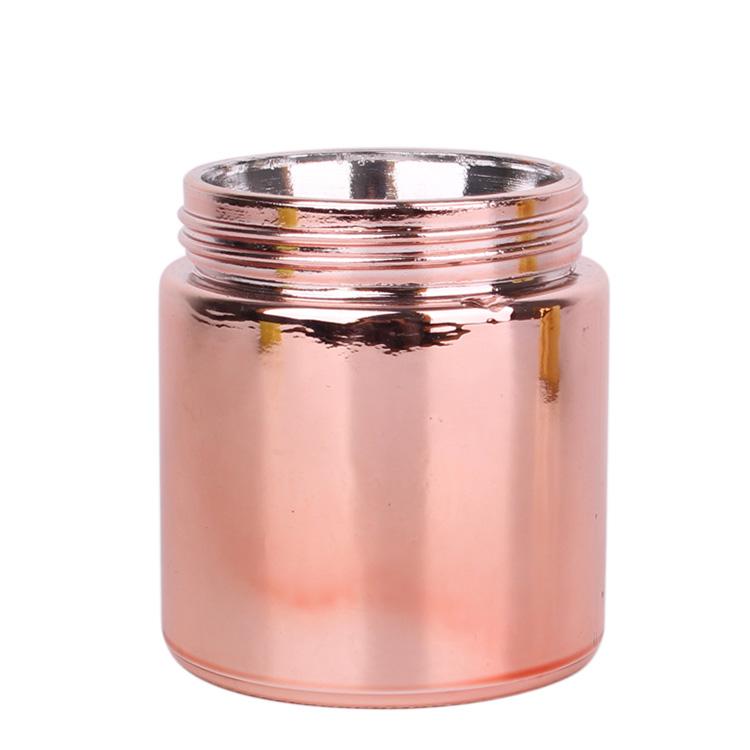 10oz electraplating glass food storage jar with plastic lid