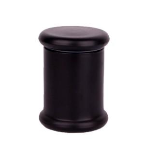 hot selling matte black Classic glass candlestick