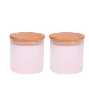 Best quality Frosted Glass Spray Bottle - wholesale 300ml  cylinder borosilicate Food Storage Glass Jar – Yanjia