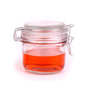 100ml 200ml food storage candy glass jar and glass lid