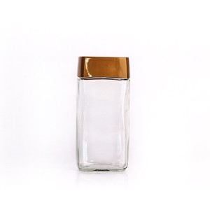 400ml 200gram coffee glass jar with screw plastic lid