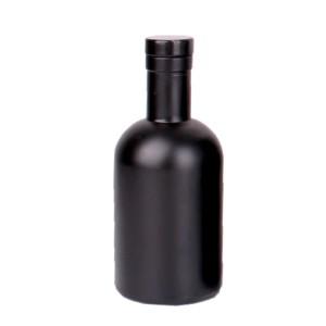 500ml 750ml empty custom matte black wine vodka glass bottle
