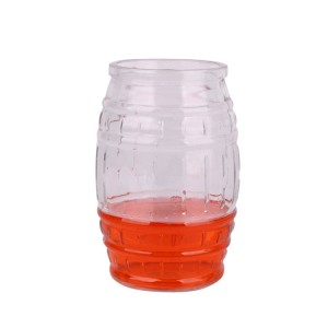 600ml drum shape glass beer juice cup