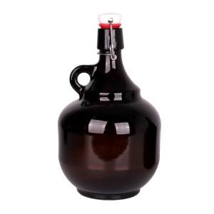 Stocked 2 liter 2000 ml big california wine glass bottle with cap